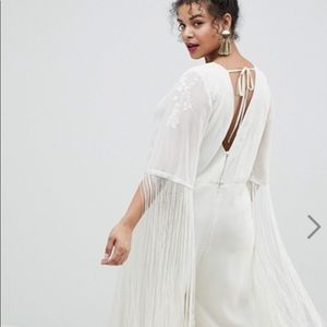 ASOS DESIGN curve premium jumpsuit with fringe